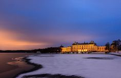 Winter evening at Drottningholm Palace, Stockholm