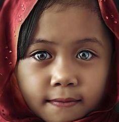 Girl with magical eyes from Keningan, Sabah Malaysia