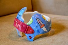 """Whimsical """"Space"""" band DOC band/Cranial band  https://www.facebook.com/Cranial-BandsMurals-by-Leigh-Gibson-153150921414230/"""