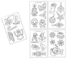 Domestic Geeks: December 2008 - Shrinky Dink ornament templates to trace and color