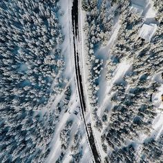 Photo of the Day! We're loving @djisupertramp's top down view of the West Yellowstone forest after a fresh dusting. Share your winter vibes with us by submitting to gopro.com/awards. #GoProSnow #GoPro