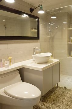 파우더 룸이 있는 욕실 디자인 : 네이버 매거진캐스트