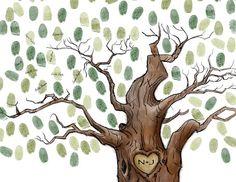 Hand drawn Wedding Tree  Guest Book  Print  by SarusPortraitDesign, $65.00