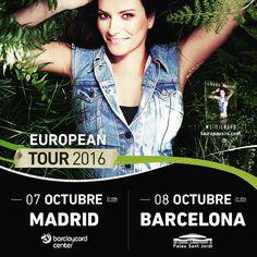 LAURA PAUSINI ACTUARÁ EL 7 Y 8 DE OCTUBRE EN MADRID Y BARCELONA DENTRO DE SU GIRA SIMILARES EUROPEAN TOUR 2016  Tal y como anunció la propia artista hace unos días en su web y redes sociales Laura Pausini actuará en España el próximo año dentro de su gira Similares European Tour 2016. Los conciertos tendrán lugar el 7 de octubre en El Barclaycard Center de Madrid y el 8 en el Palau Sant Jordi de Barcelona ambos a las 21:00h. A partir de este viernes 23 de octubre se podrán adquirir las…