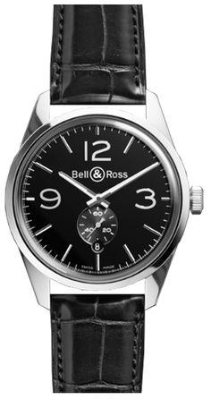 Bell & Ross Vintage Officer BRG123-BL-ST/SCR