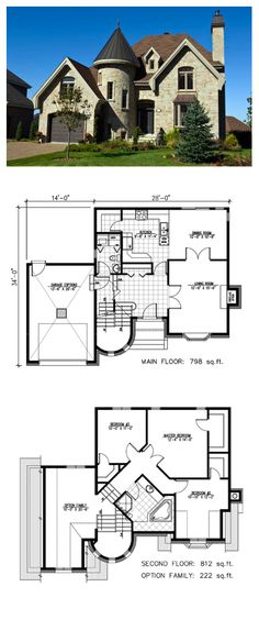 House Plan 48135 - Victorian Style House Plan with 1610 Sq Ft, 3 Bed, 2 Bath, 1 Car Garage Sims House Plans, Dream House Plans, Small House Plans, House Floor Plans, The Plan, How To Plan, Victorian House Plans, Victorian Homes, Cottage House Plans