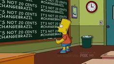 Simpsons contribuem para o #ChangeBrazil ~ Arquivo Comics