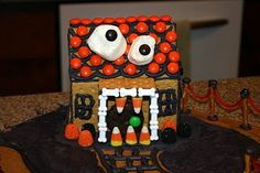 Monster Houses.... A halloween twist to a ginger bread house. The boys would like this!