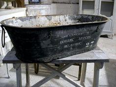Belgian metal tub