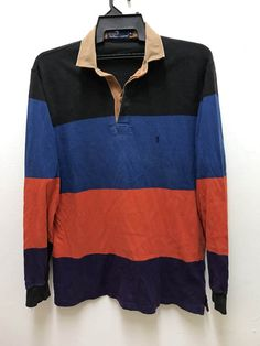 VINTAGE 1992 POLO RALPH LAUREN RED LINE COLOR BLOCK TURTLE NECK SIZE LARGE  | Clothing, Shoes \u0026 Accessories, Men\u0027s Clothing, Casual Shirts | eBay!