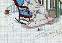 """Rose Of Sharon"" cross stitch design by Paula Vaughan.   Found on dora2012.gallery.ru ---  #1 of 7"