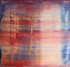 Harry Moody - Abstract Red White Blue, oil on canvas