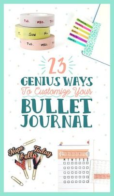 Creative Organization: Ideas for your bujo you'll want to use now. 23 Bullet Journal Ideas That Are Borderline Genius Bullet Journal Décoration, Bullet Journal Banners, Digital Bullet Journal, Bullet Journal Layout, Planner Stickers, Printable Planner, Printables, Journal Inspiration, Journal Ideas