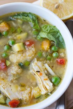 Chicken lemon soup