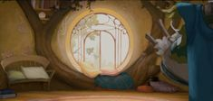 "Inspiration for ""Enchanted Forest"" bedroom- Animation Backgrounds: ENCHANTED (2007)"