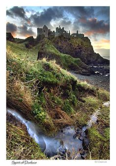 Dunluce Castle, County Antrim, Northern Ireland.