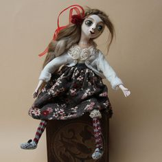 A dolls-Ooak dolls-Home decor doll-Christmas by DovileDolldeco