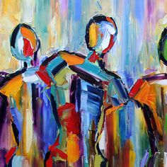 Abstract Painting People Community
