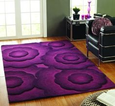 Textures Realm Purple Rug www.rugbugs.co.uk