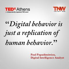 'digital behavior is just a replication of human behavior.' So true with Social Cognitive Theory. Human behaviors learned in reality often times cross over onto the internet. This includes both positive and negative aspects of human communication patterns and behaviors such as bullying (negative).