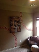 Baseball stitching Vinyl wall decal for Austin