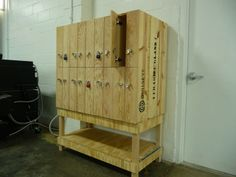 Lockers from Brazee Studios in Cincinnati, Ohio. Bullseye Glass, Furniture Making, Making Out, Crates, Lockers, Locker Storage, Cincinnati, Ohio, Studios