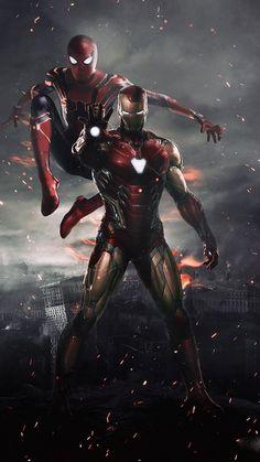 Spiderman and Ironman HD Wallpaper - Avengers Endgame Marvel Dc Comics, Marvel Avengers, Marvel Memes, Captain Marvel, Captain America, Spiderman Marvel, Marvel Art, Iron Man Avengers, Iron Man Spiderman