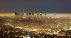 Downtown Los Angeles - Night Lights by Rain Man Show, via Flickr