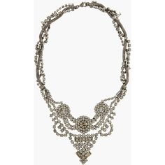 DANNIJO Gunmetal And Swarovski Crystal Handmade Vala Necklace ($420) ❤ liked on Polyvore