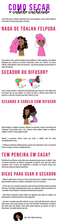 How to dry curly hair properly Dry Curly Hair, Curly Hair Tips, Wavy Hair, Kawaii Hairstyles, Box Braids Hairstyles, 4c Natural Hair, Natural Hair Styles, Afro Hair Care, How To Make Hair