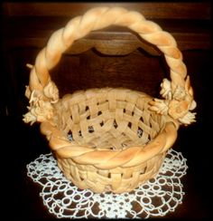 Easter ideas for kids, Easter food ideas, Easter basket crafts, wicker Easter basket – BuzzTMZ Cream Puff Swans Recipe, Ukrainian Easter Bread Recipe, Baked Chocolate Pudding, Friendship Bread Recipe, Holiday Bread, Pastry Design, Healthy Bread Recipes, Bread Art, Bread Shaping