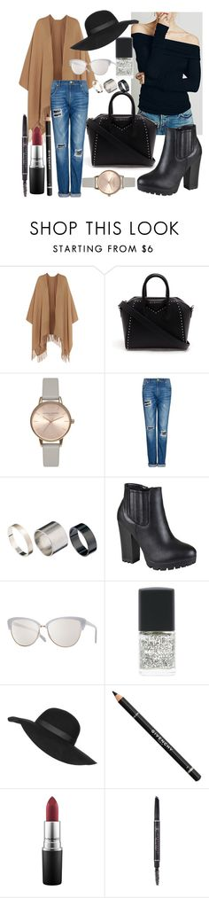 """Urban NY style"" by daria-sway ❤ liked on Polyvore featuring Acne Studios, Givenchy, Olivia Burton, MANGO, Just Acces, Journee Collection, Oliver Peoples, Lane Bryant, Topshop and MAC Cosmetics"