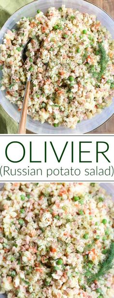 This Olivier Salad (Russian Potato Salad) recipe is such a unique recipe. It's a traditional dish in the Russian cuisine and served in most restaurants and parties. This salad is commonly known as the Russian Salad, or Olivye in the Ukrainian community. Ukrainian Recipes, Russian Recipes, Ukrainian Food, Russian Potato Salad, Russian Salad Recipe, Olivier Salad, Russian Dishes, Russian Foods, Eastern European Recipes