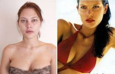 Probably you have wondered what Victoria`s Secret models look like before they apply layers of makeup and Photoshop effects. Victorias Secret Models, Models Without Makeup, Catherine Mcneil, Celebrities Then And Now, Shops, Famous Models, Model Look, High End Fashion, Supermodels