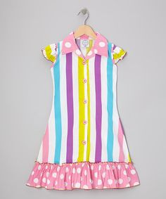 Take a look at this Pink Stripe & Polka Dot Sundress - Toddler & Girls by Vintage Circus on #zulily today!