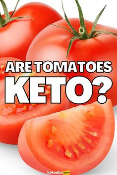 Although they are fruits that are generally high in sugar, tomatoes are keto-friendly. Unlike regular fruits, tomatoes are quite low in carbohydrates. Ketogenic Diet Weight Loss, Ketosis Diet, Ketogenic Diet For Beginners, Keto Fruit, Can I Eat, Low Carb Diet, Nutrition Tips, Tomatoes, Sugar