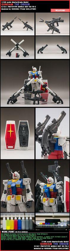GUNDAM GUY: MG 1/100 RX-78-1 Gundam [The ORIGIN] - Customized Build
