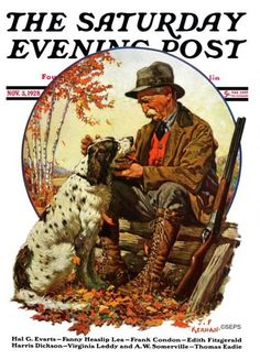"""An athlete and outdoorsman, artist Joseph Francis Kernan was known as the """"poor man's Norman Rockwell."""" But Kernan was a superb illustrator in his own right. His art featured, as he described it, """"the human side of outdoor sports, hunting, fishing, and dogs."""""""