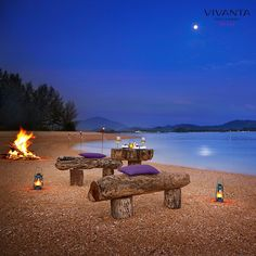 As the night shimmers let romance take over at Vivanta by Taj – Rebak, Langkawi.  Explore your options here: http://bit.ly/NeverEndingIDos #RenewalofVows #Love #Dinner #Romantic #Moonlight #Beach  #Night #Couple
