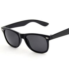 b68f3f79096 2016 Fashion Retro Plastic Black Sunglasses Men Colorful Mirror Vintage Man  Sun glasses Women Summer Uv400