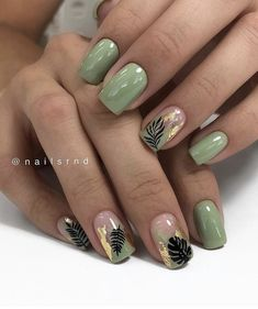 50 hottest natural and lovely short square nails for spring nails 2020 - Acrylic short square nails, natural short square nails , pretty short nails, Short square nails des - Cute Acrylic Nails, Acrylic Nail Designs, Cute Nails, Pretty Nails, Nail Art Designs, My Nails, Nails Design, Green Nail Designs, Square Nail Designs