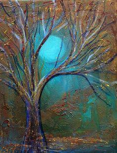 ☯☮ॐ American Hippie Bohemian Psychedelic Art ~ Blue Moon