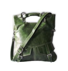 olive green leather purse - this is WAY too big a purse for me, but I love it still...