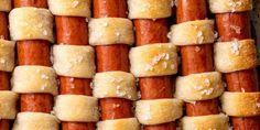 Hot dog quilt horizontal Dog Recipes, Cooking Recipes, Easy Recipes, Grilling Recipes, Beef Recipes, Cooking Ham, Sandwich Recipes, Salmon Recipes, Biscuit Dough Recipes