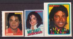 MICHAEL JACKSON USA MUSIC 3 RARE BRAVO SMALL VINTAGE OLD STICKERS R17133