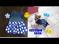 Como fazer vestido para seu bichinho(roupinha pet) - YouTube