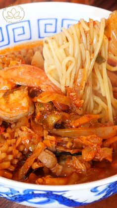 JJAMPPONG KOREAN SEAFOOD NOODLE SOUP RECIPE & VIDEO Seafood Recipes, Soup Recipes, Dinner Recipes, Cooking Recipes, Asian Recipes, Healthy Recipes, Healthy Food, Asian Soup, Asian Cooking