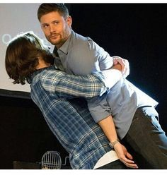 """These two kill me. XD Jensen's straight face though. """"Don't worry guys. I'm used to it."""""""