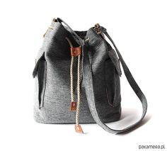 torby na ramię - damskie-torba - grey&orange&camel -
