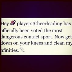 Thats to all of you that say cheerleading is not a sport!!!
